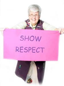 Gray-Haired Granny Says Show Respect
