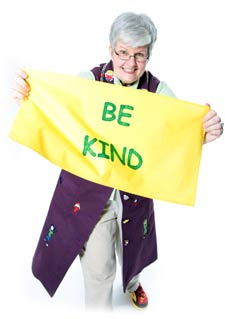 Gray-Haired Granny Says Be Kind