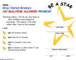 No Bully Allowed Promise Certificate