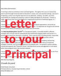 Help Stop Bullying Letter to Principal
