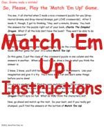 Match 'Em Up Instructions
