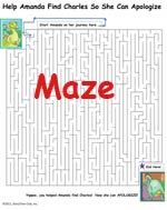 Maze activity sheet