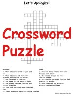 Crossword Activity Sheet