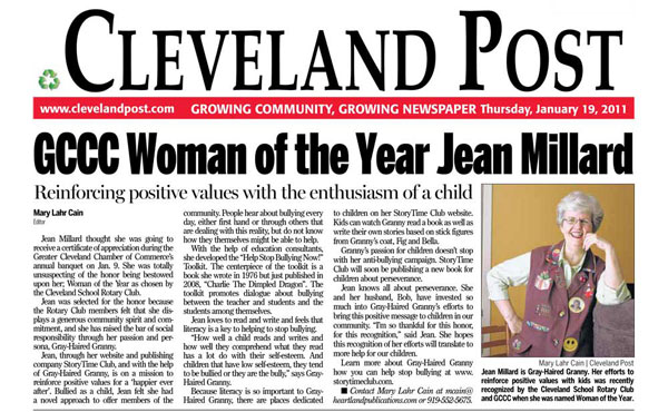 Jean Millard 2011 Woman of the Year